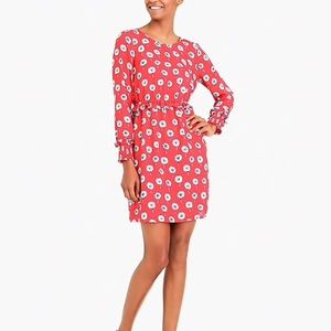 J. Crew Factory Red Longfellow Floral Dress